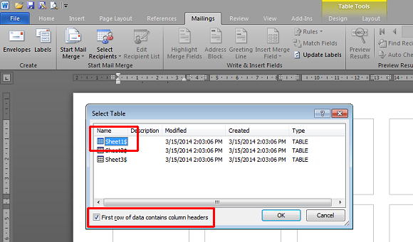 Open your Excel data source file