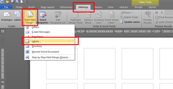 Open Your Label Template  Format Labels In Word