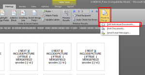 Merge the data source with the label template