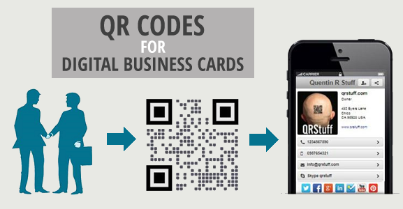 Digital business card qr codes qrstuff digital business card qr codes contact details qr code reheart Images