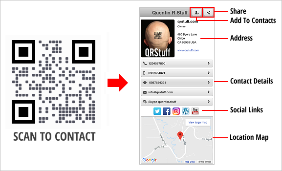 Digital Business Card QR Code