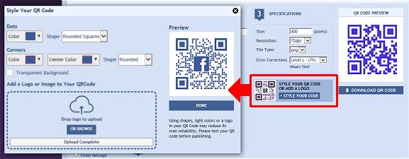 Facebook QR Codes - QRStuff com