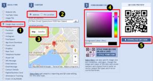 Google Map QR Codes