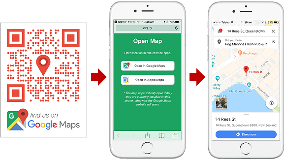 QR Codes For Google Maps