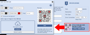 Email Message With QR Code