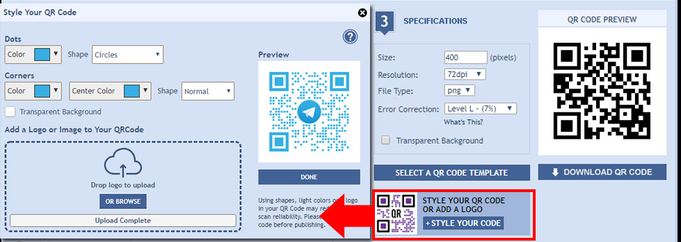 How To Generate QR Codes For Telegram Groups - QRStuff com