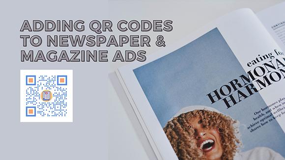 qrstuff.com QR codes on newspaper and magazine ads